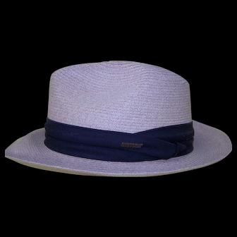 Vintage Stetson Panama Style Fedora