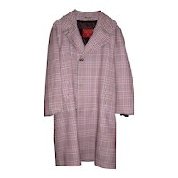 Vintage Mid-Century Plaid Overcoat