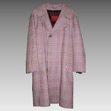 Vintage Mid-Century Plaid Overcoat