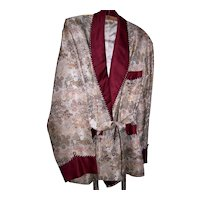 Vintage Rich Brocade Smoking Jacket