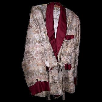 Vintage Rich Brocade Smoking Jacket