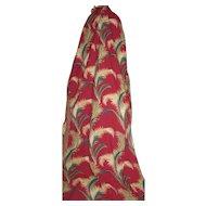 Vintage Elegant Barkcloth Drapes