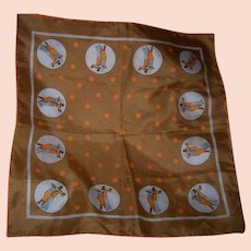 Vintage Scarf with Ballroom Dancers