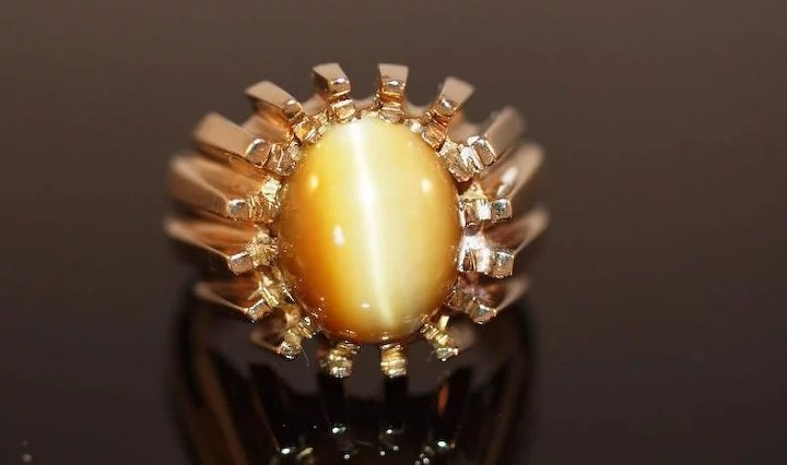 antique com chrysoberyl cluster pin elegant ring portuguese rings gold