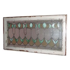 One of a matched pair of early 20th century stained glass windows