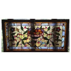 Wonderful 19th century fruit bowl window