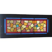 Victorian stained glass transom window