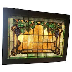 Circa 1910 grape arbor stained glass window