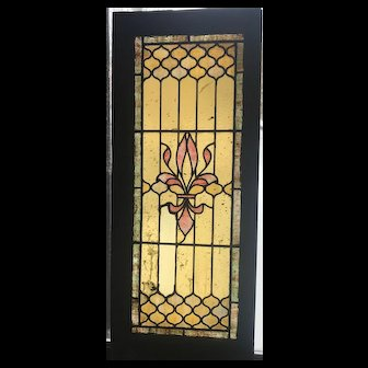 Interesting glass in the circa 1900 stained glass window