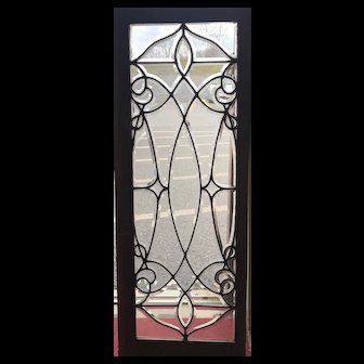 Nicely beveled stained glass cabinet panel