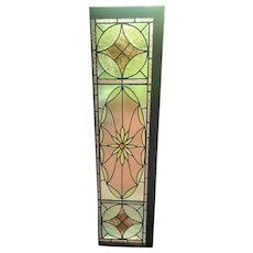 Circa 1900 exceptional stained glass window