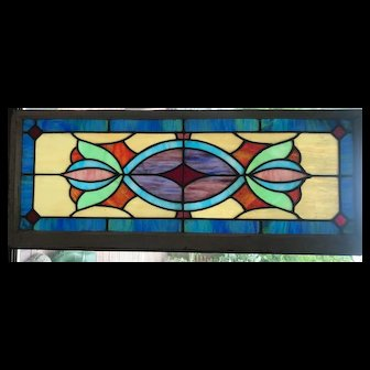 First quarter 20th century stained glass window