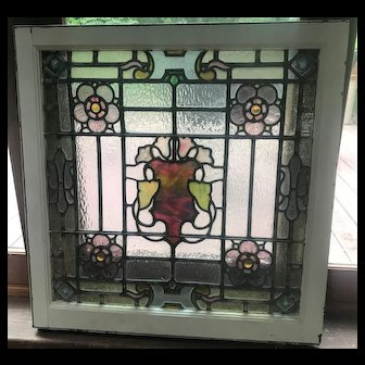 Circa 1900 stained glass window
