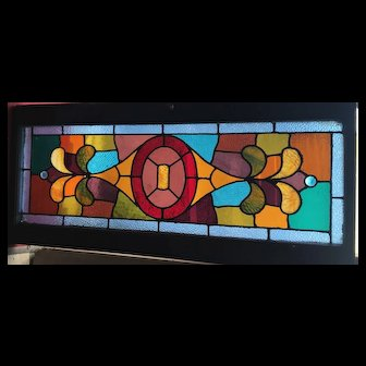 Vibrant colors in this Victorian stained glass window