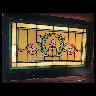 Late 19th / early 20th century stained glass window