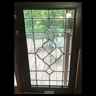 Nice old beveled stained glass window