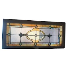 Deco stained glass window