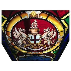 London Coat of Arms stained glass window