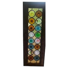 Very rare and unusual stained glass windows