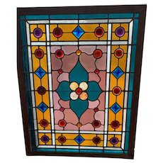 Nicely jeweled Victorian stained glass window
