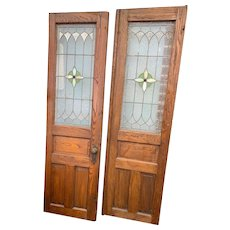 Stained glass double doors