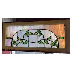 Early 20th century arts and crafts stained glass window