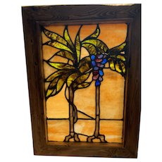 Wonderful glass in floral stained glass window