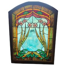 Exceptional glass in the floral stained glass window
