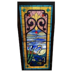 Most spectacular drapery glass  swan window