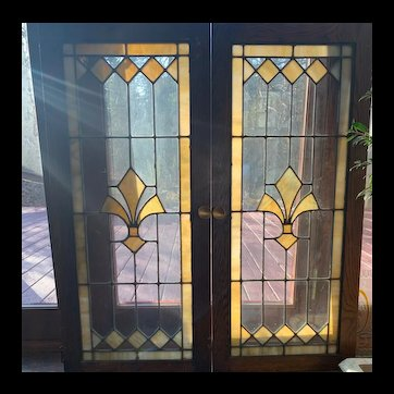 Early 20th century cabinet doors