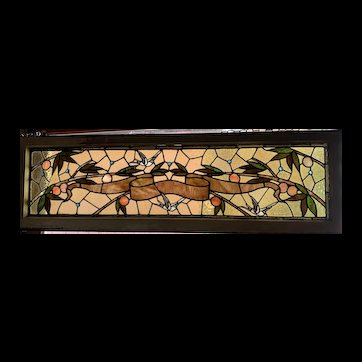 Exceptional birds in flight stained glass window