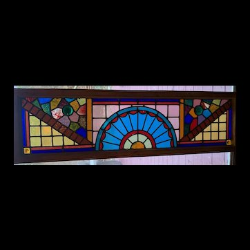 Vibrant colors in Victorian stained glass window