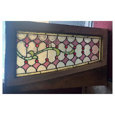Nicely jeweled transom window