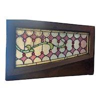 Nicely jeweled transom window
