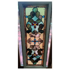 Victorian stained glass wind0w
