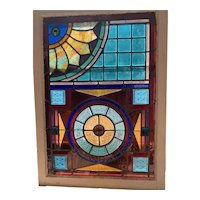 Extraordinary stained glass window
