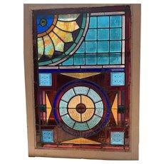 Extraordinary stained glass window