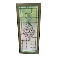 Nice sharp beveled center stained glass window