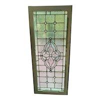 Nice sharp beveled center stained glass window