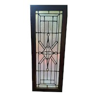 Combination of interesting textured glass in stained glass window