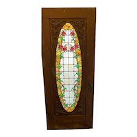Rare find ---- Victorian stained glass rose arbor door