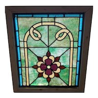 Small Victorian stained glass window