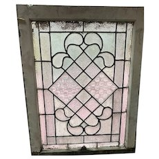 Late 19th century clear textured glass window