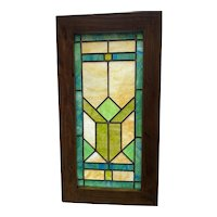Small Art Deco stained glass window