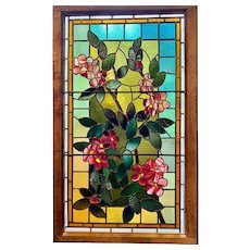 Exceptional use of glass in floral stained glass window