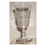 Flamingo Habitat Goblet – Hobbs, Brockunier & Co. - Ca. 1880