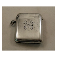 Sterling Match Safe – English – Chester – 1900