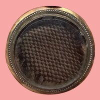 Beautiful Antique Gold Mourning Locket With Woven Hair Victorian