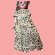 "6 and 1/2"" Antique  German Doll Great Clothes"
