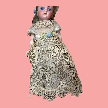 """6 and 1/2"""" Antique  German Doll Great Clothes"""